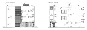 Pohledy na rodinný dům (severní a západní)