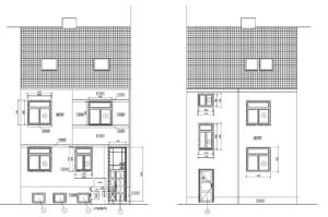 Pohledy na nemovitost (zepředu, zezadu)
