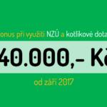 Bonus 40.000,- Kč mohou od září získat lidé, kteří zároveň využijí kotlíkovou dotaci a program Nová zelená úsporám.