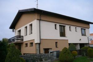 Příklad domu, který využívá tepelné čerpadlo